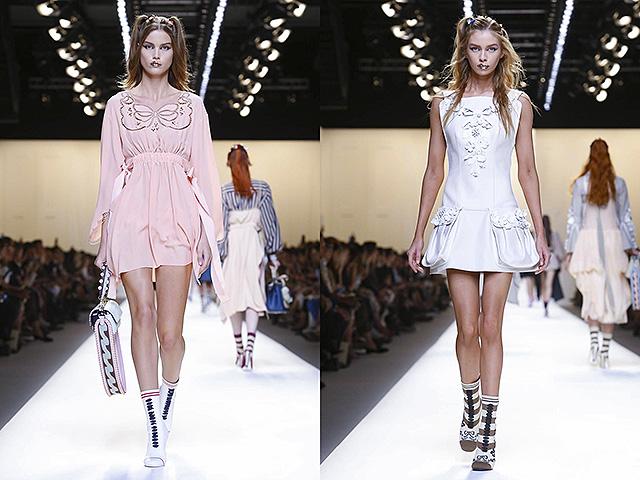 Модно ревю на Fendi, колекция, готова за носене пролет лято 2017 в Милано