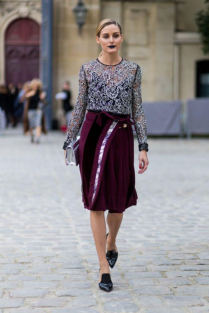 ПАРИЖ, ФРАНЦИЯ - 30 септември: Оливия Палермо извън Диор на 30 септември 2016 г. в Париж, Франция. (Снимка на Кристиан Виериг / Гети Имиджис) *** Местна надпис *** Оливия Палермо