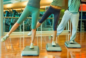 Step aerobics requires regular practice