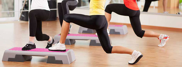 Step aerobics make the figure perfect