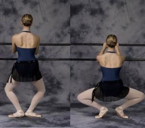 Plie клякания за гъвкавост