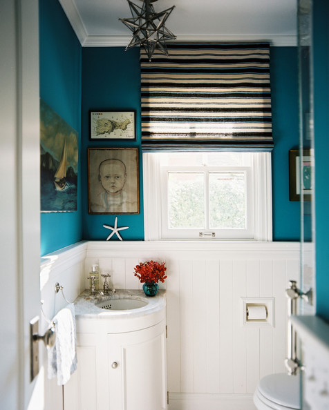 Roman + Blinds + blue + bathroom + striped1-62