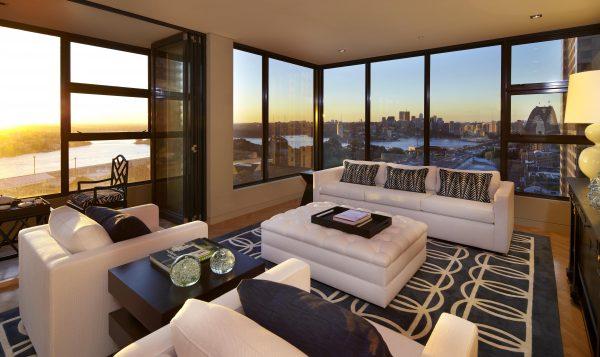 Living Room Big Ideas Decorinterio Big Windows Apartment Wallpapers Big Windows Apartment Wallpapers - Download HD Wallpapers