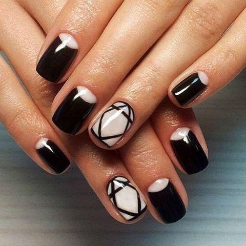 черно-бели нокти-7