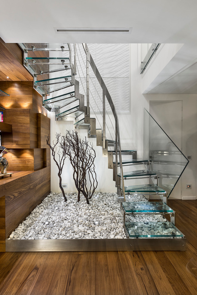Staircase in the interior of the house-443