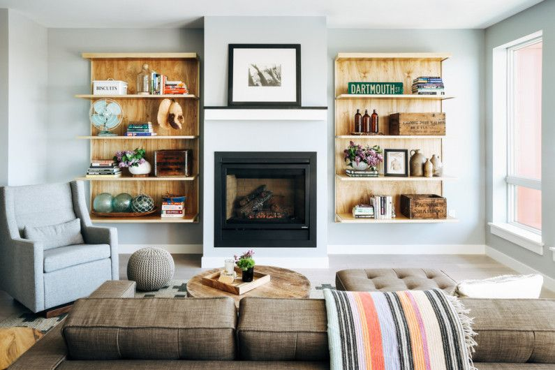 accent wall in the living room