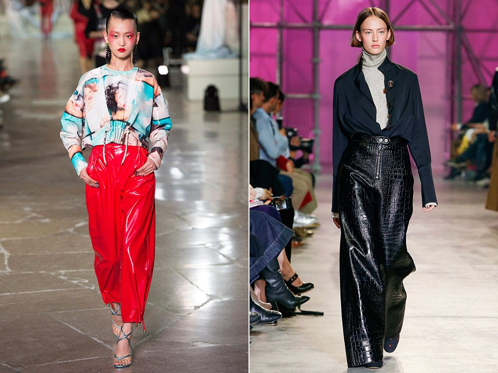 Leather pants spring-summer 2017