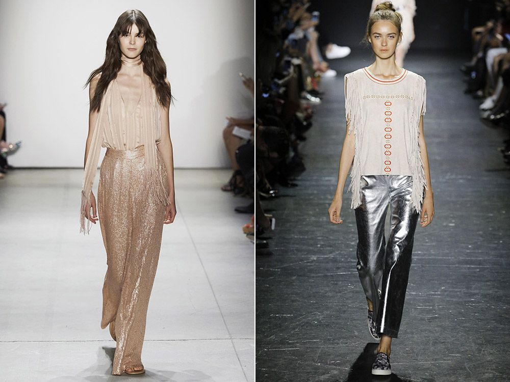 Pants metallic spring-summer 2017