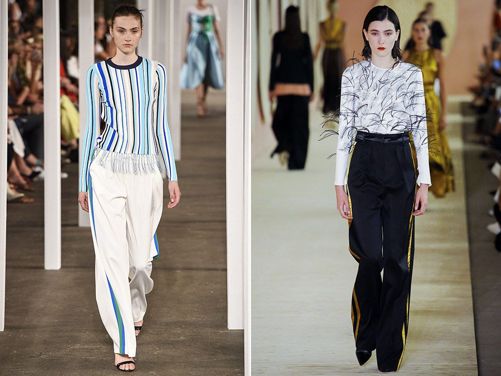 Trousers with stripes spring-summer 2017