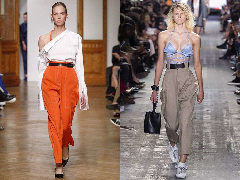 Pants with a high waist spring-summer 2017