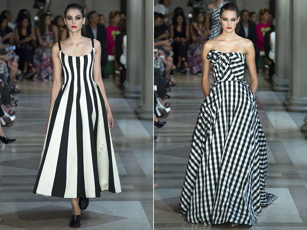 Black and white dresses spring-summer 2017