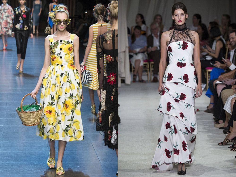 Floral Print: Dolce & amp; Gabbana, Oscar de la Renta