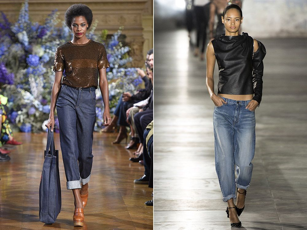 Jeans with lapels spring-summer 2017