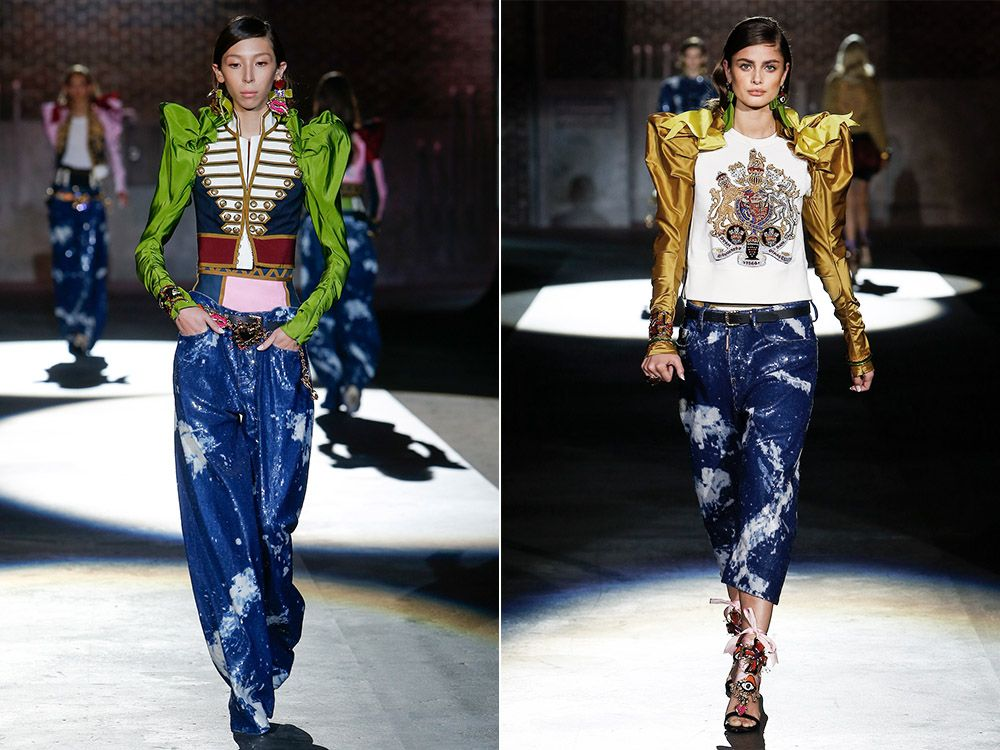 Jeans in the style of grunge spring-summer 2017
