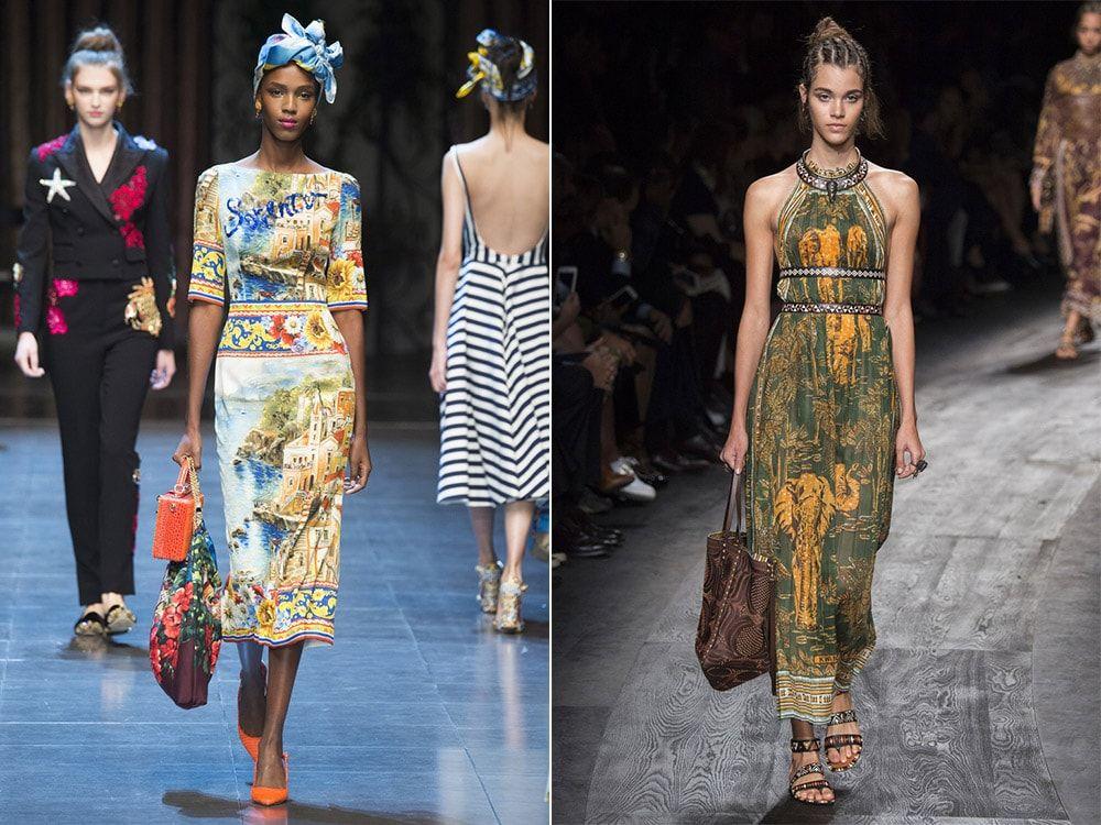 Geographic prints: Dolce & amp; Gabbana, Valentino