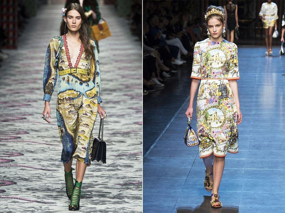Geographic Prints: Gucci, Dolce & amp; Gabbana
