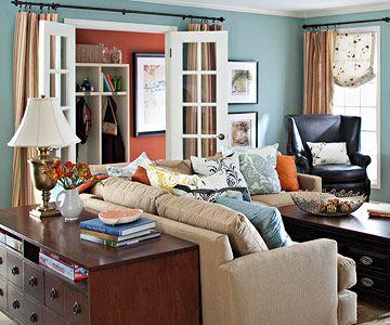 Уютен интериор на всекидневната