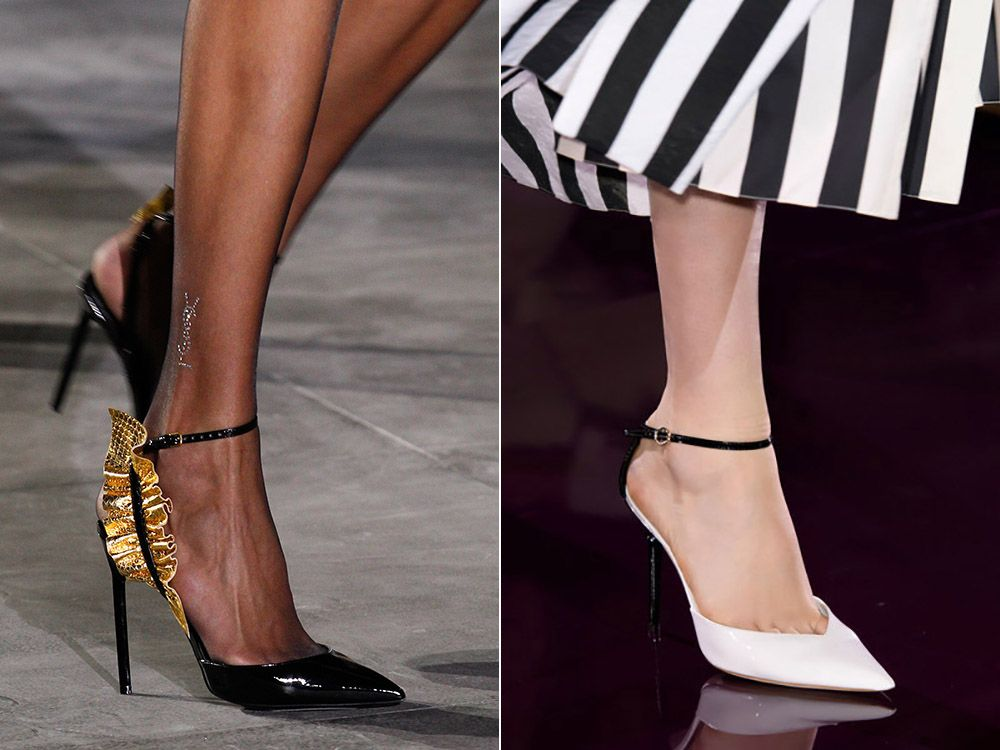 Classic shoes with a pointed toe spring-summer 2017