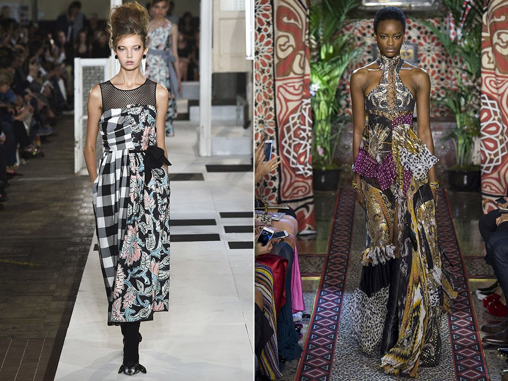Combined dresses spring-summer 2017