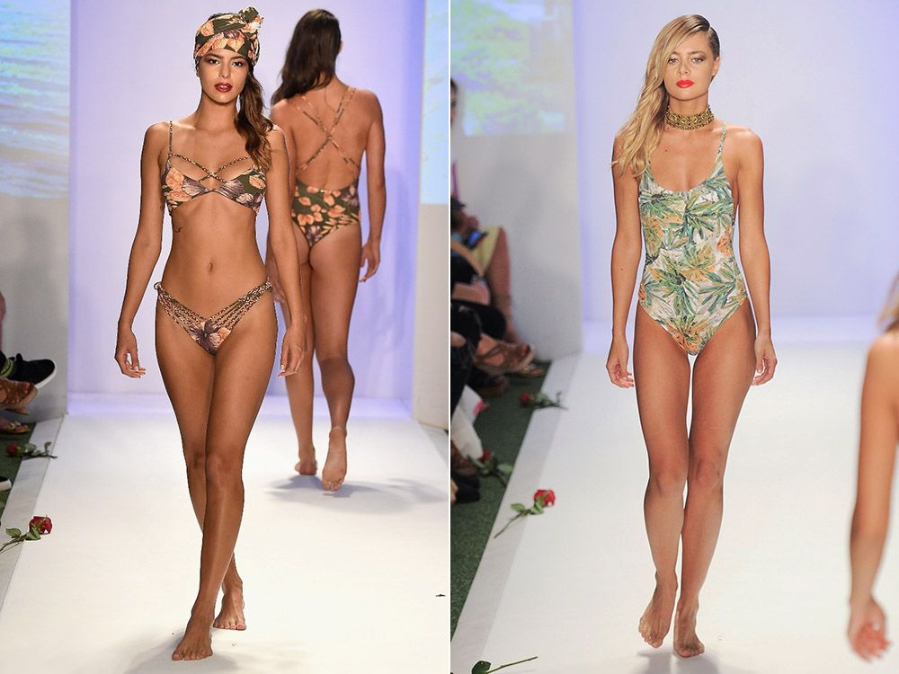 Swimwear with floral summer 2017