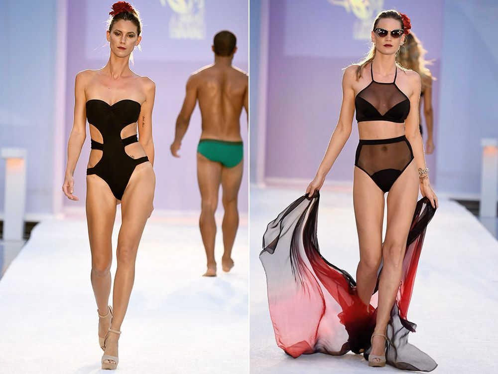 Swimwear with cut-outs and transparent rates summer 2017