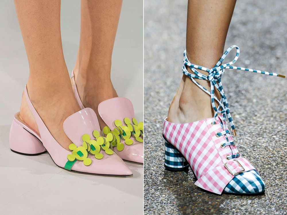 Fashionable color shoes spring-summer 2017