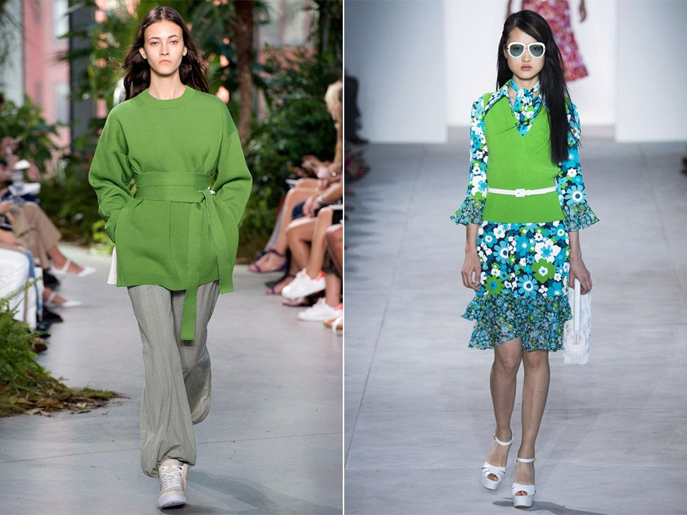 Trendy color spring-summer Greenery