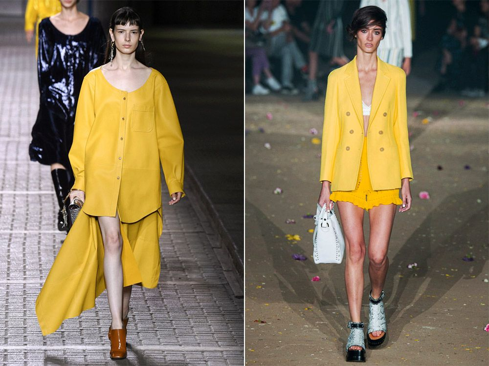 Trendy color spring-summer Primrose Yellow