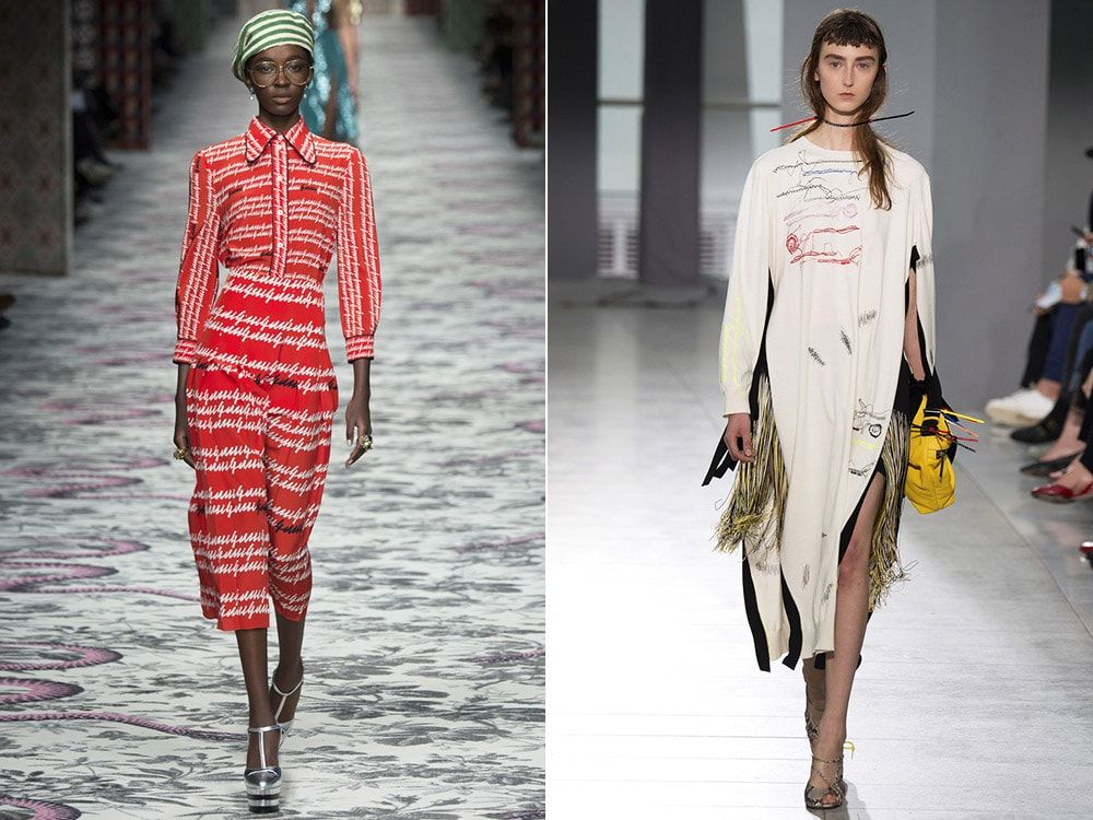 Lettering: Christopher Kane, Gucci