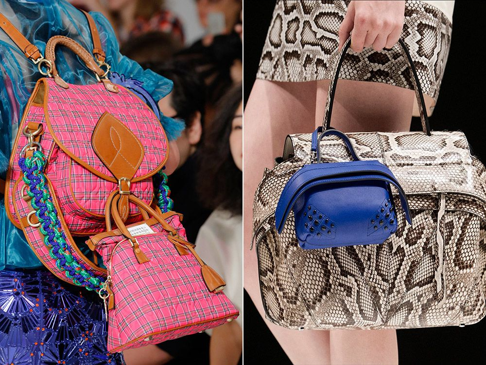 Multiple bags at the same time spring-summer 2017 Maison Margiela, Tods