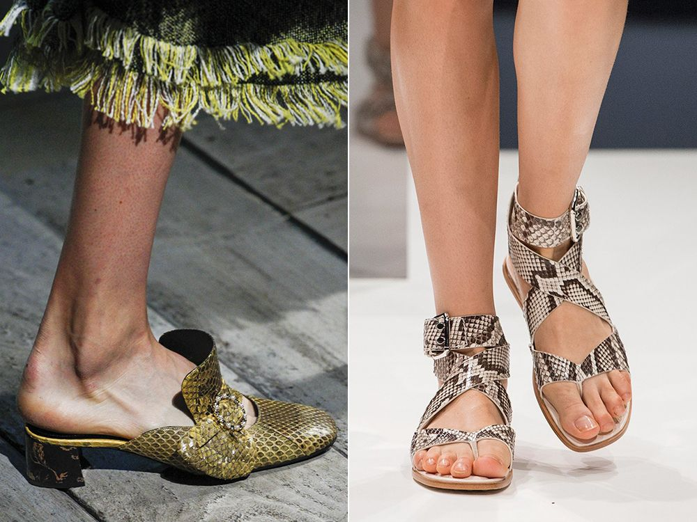 Reptile leather shoes spring-summer 2017