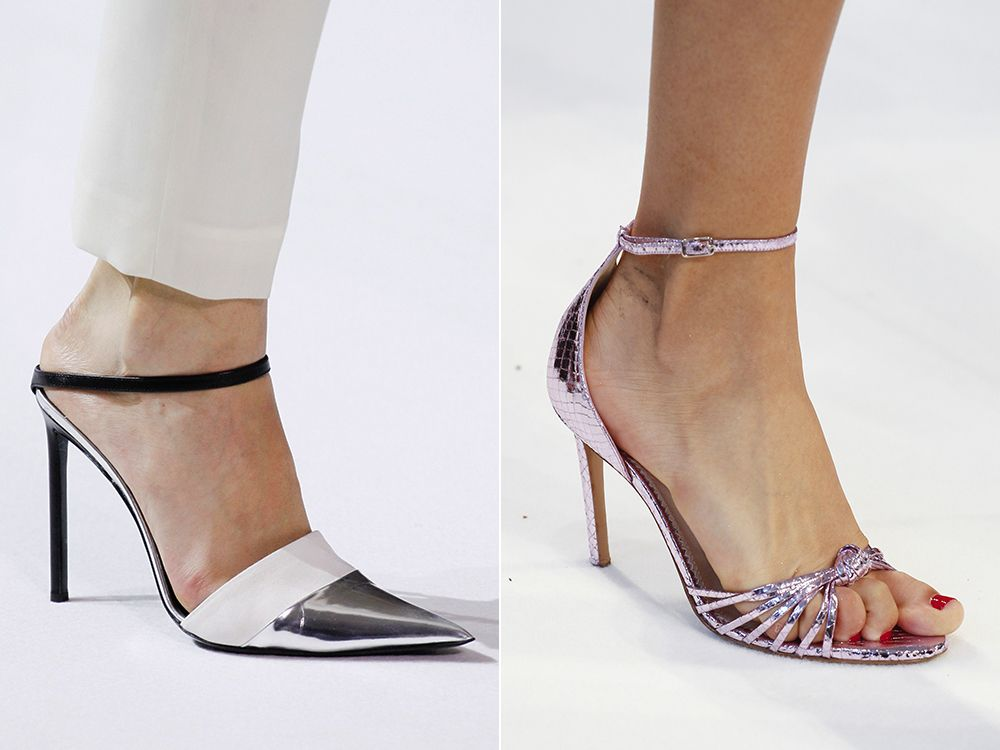 Shoes with metal effect spring-summer 2017