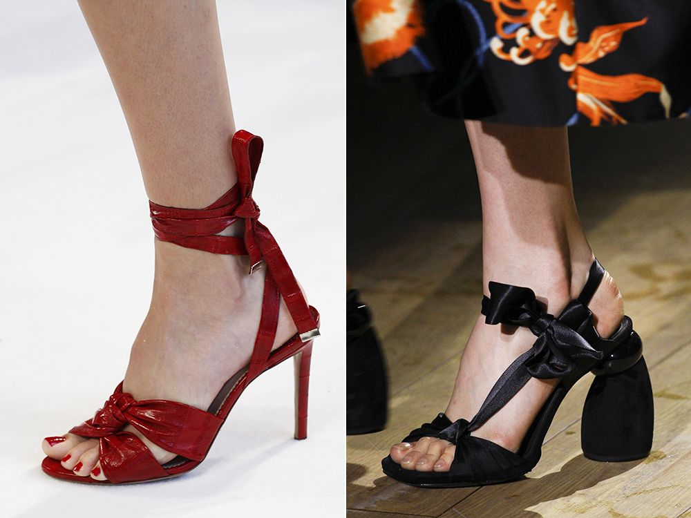 Shoes with straps spring-summer 2017