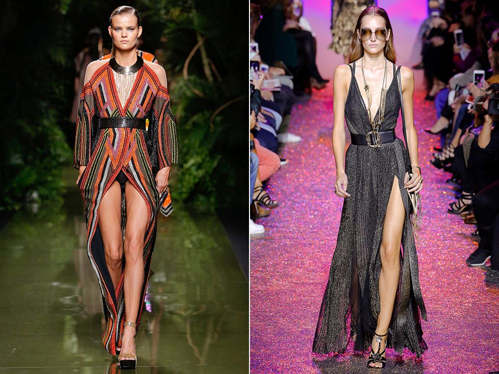 Dress with a slit spring-summer 2017