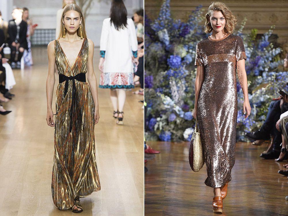 Dresses metallic spring-summer 2017