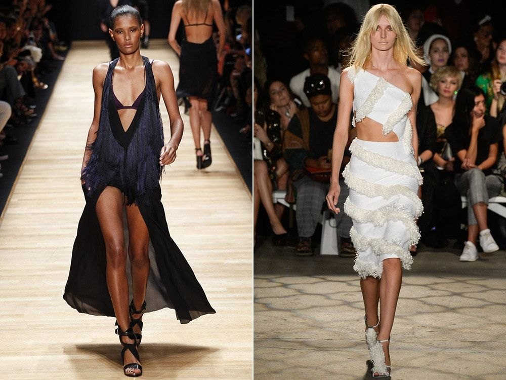 Fringed Dresses: Barbara Bui, Christian Siriano