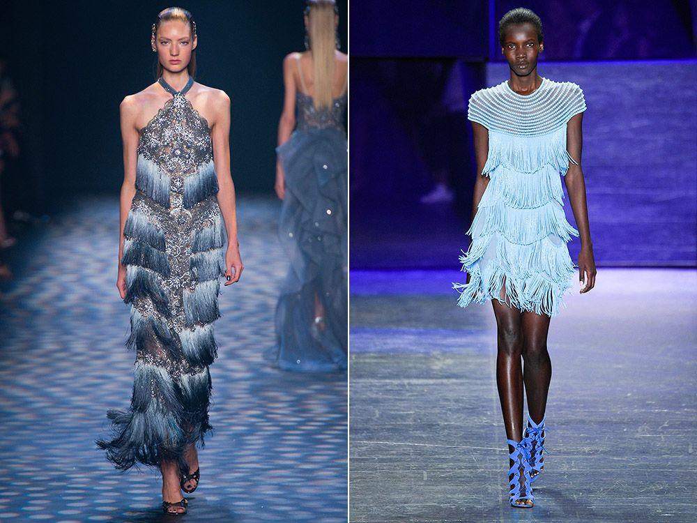 Dresses with fringe spring-summer 2017