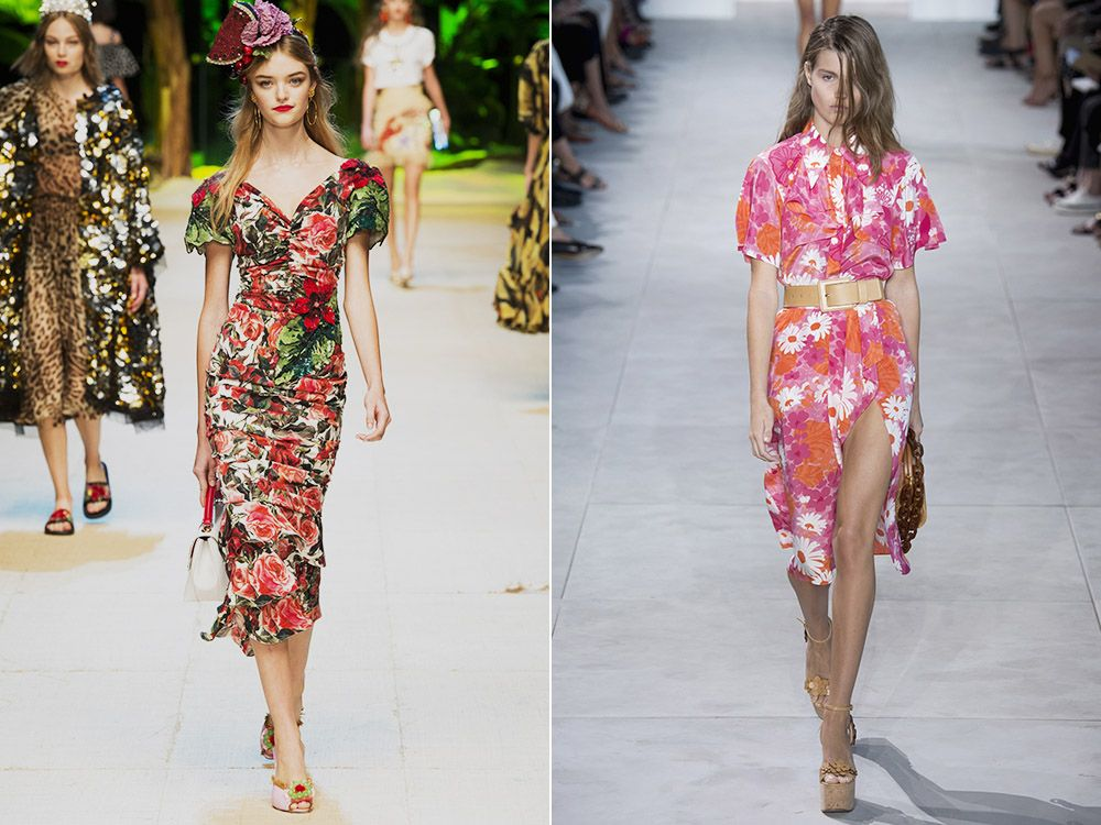 Dresses with floral print spring-summer 2017