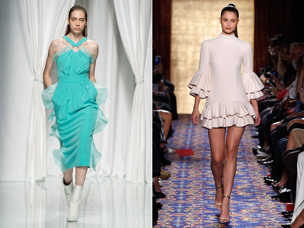 Dresses with ruffles spring-summer 2017
