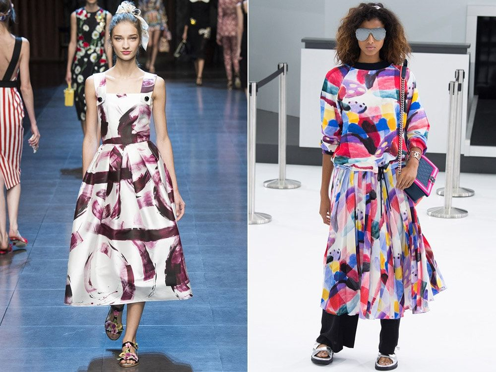 Print abstraction: Dolce & amp; Gabbana, Chanel