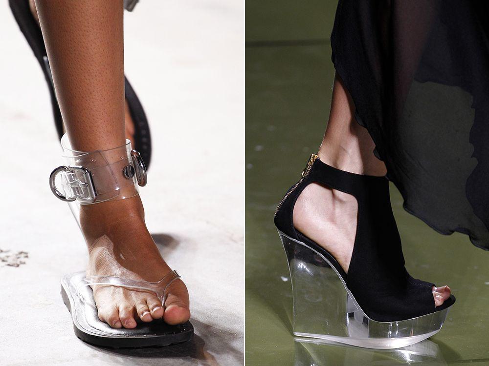 Transparent shoes spring-summer 2017
