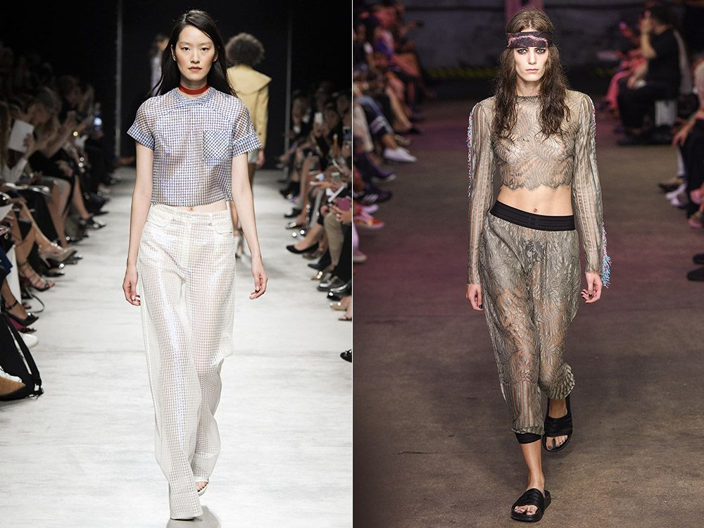 Transparent pants spring-summer 2017