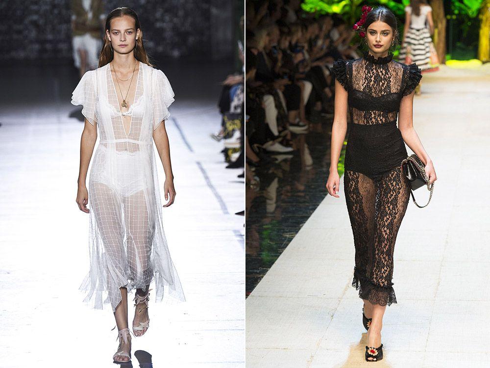 Transparent dresses spring-summer 2017