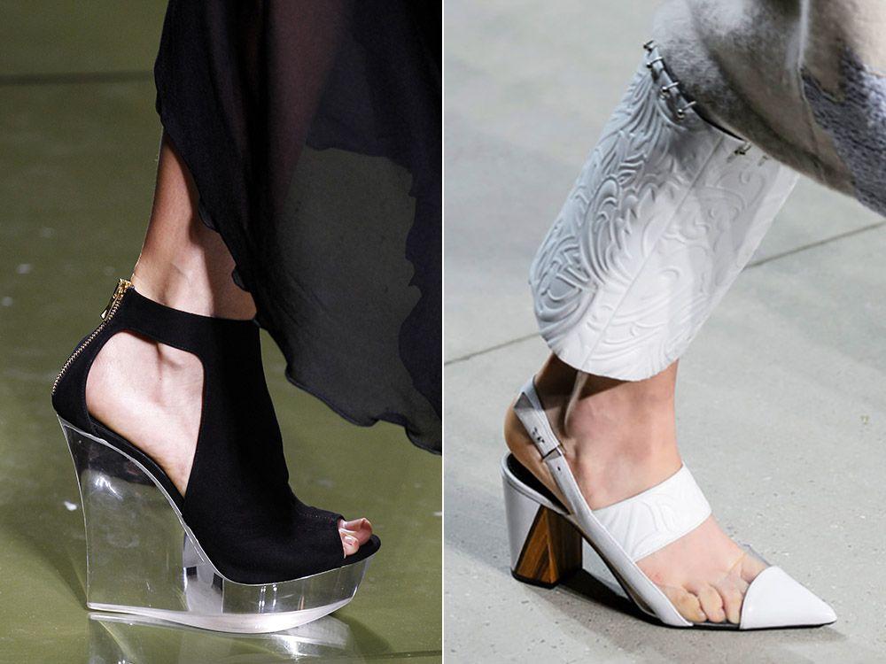 Прозрачни обувки пролет-лято 2017