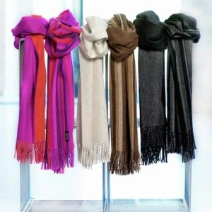 Scarves and shawls in the interior
