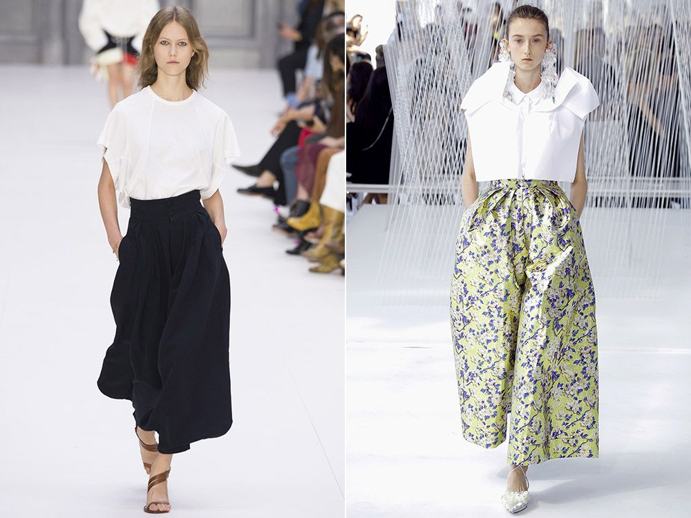 Wide pants spring-summer 2017