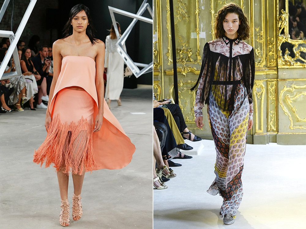 The trend of fringe spring-summer 2017
