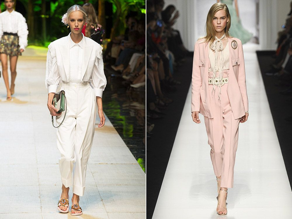 The trend of pantsuits spring-summer 2017