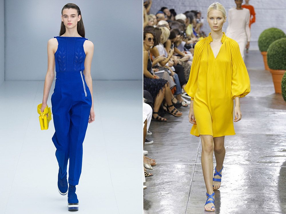 The trend of color total look spring-summer 2017