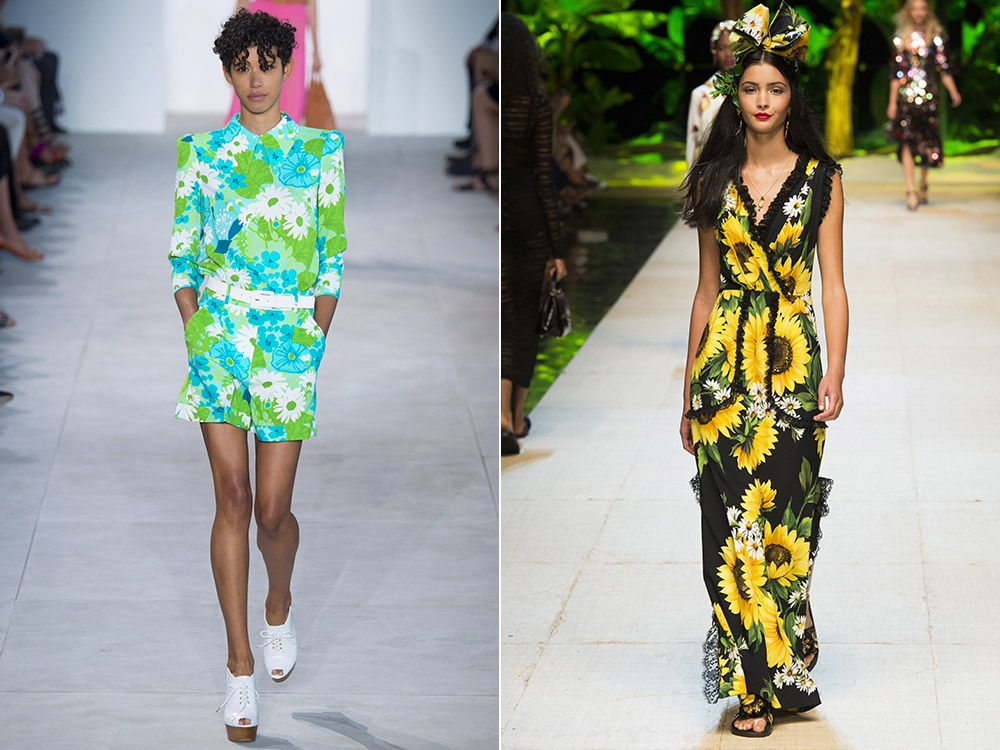 The trend of floral print spring-summer 2017